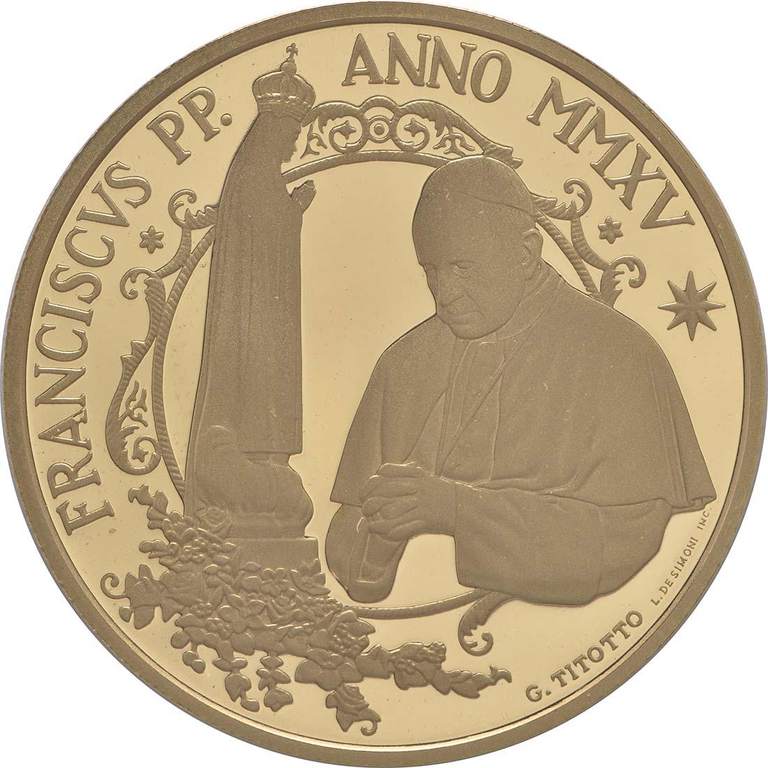 Vorderseite:Vatikan : 53,88 Euro KMS Vatikan mit 50 Euro Gedenkmünze Papst Franziskus MMXV  2015 PP