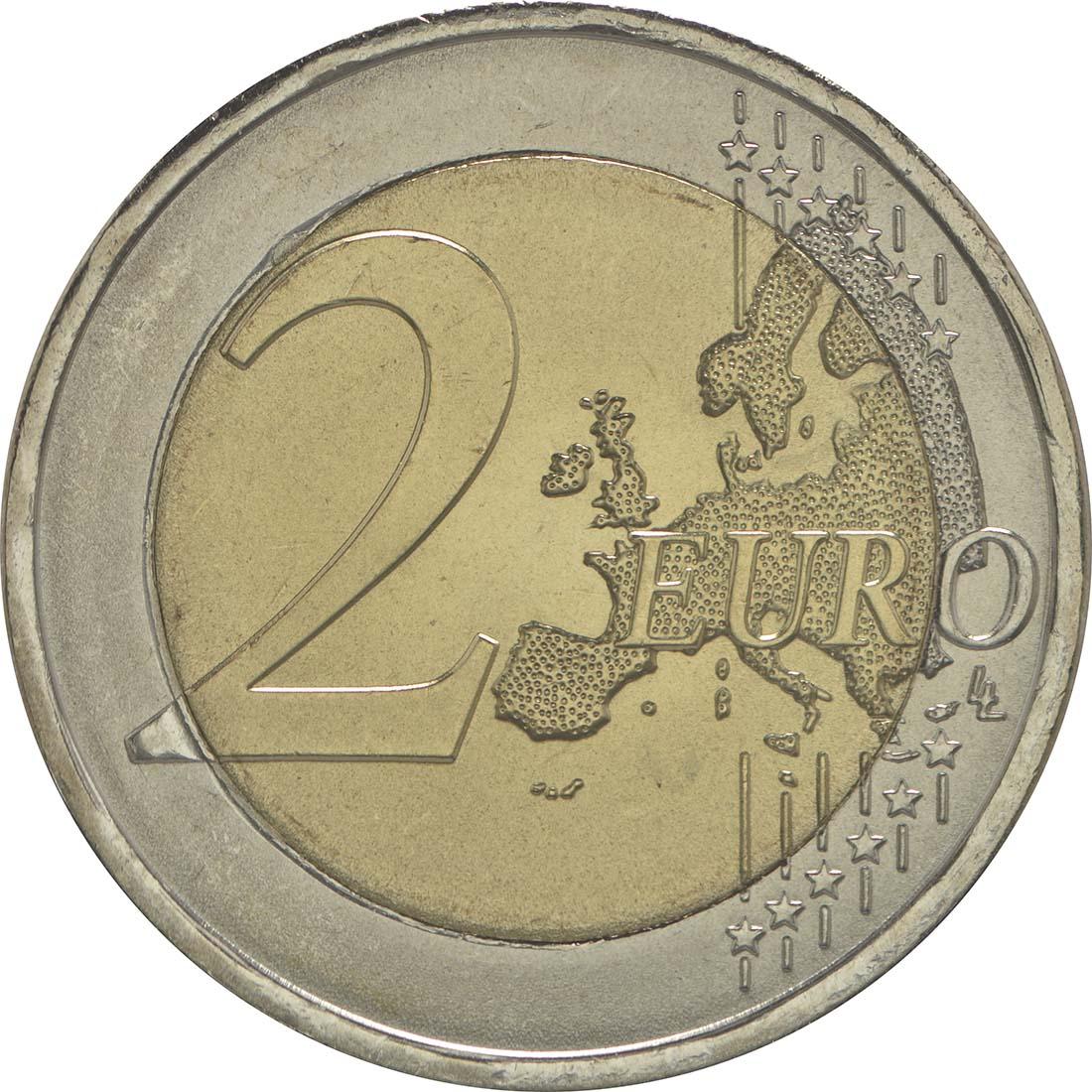Vorderseite :Portugal : 2 Euro 150 Jahre Rotes Kreuz  2015 bfr