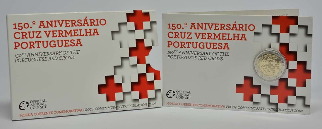 Lieferumfang :Portugal : 2 Euro 150 Jahre Rotes Kreuz  2015 PP