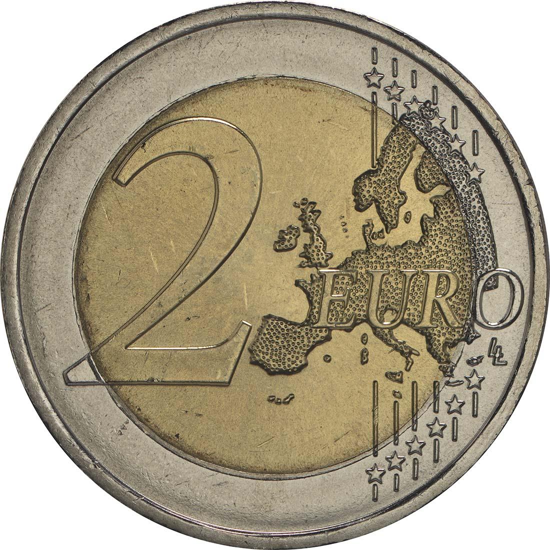 Vorderseite:Portugal : 2 Euro 500 Jahre seit dem ersten Kontakt mit Timor  2015 bfr