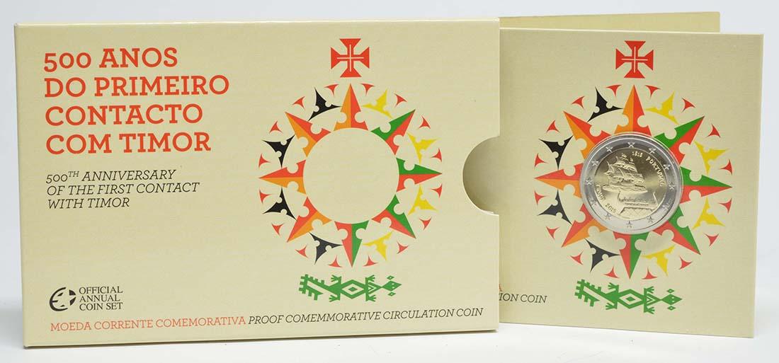 Lieferumfang:Portugal : 2 Euro 500 Jahre seit dem ersten Kontakt mit Timor  2015 PP