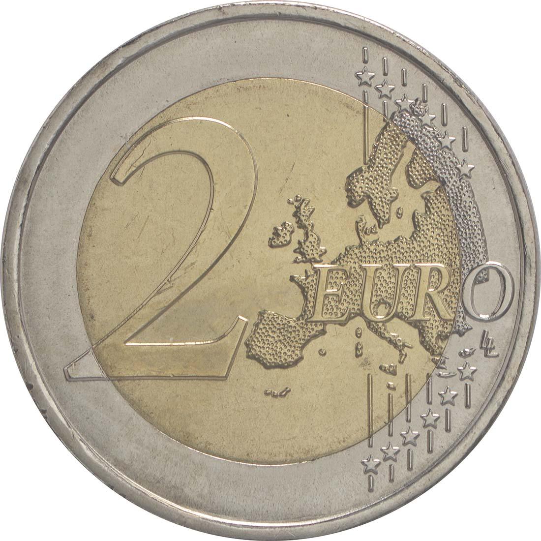 Vorderseite :Portugal : 2 Euro 30 Jahre Europäische Flagge  2015 bfr