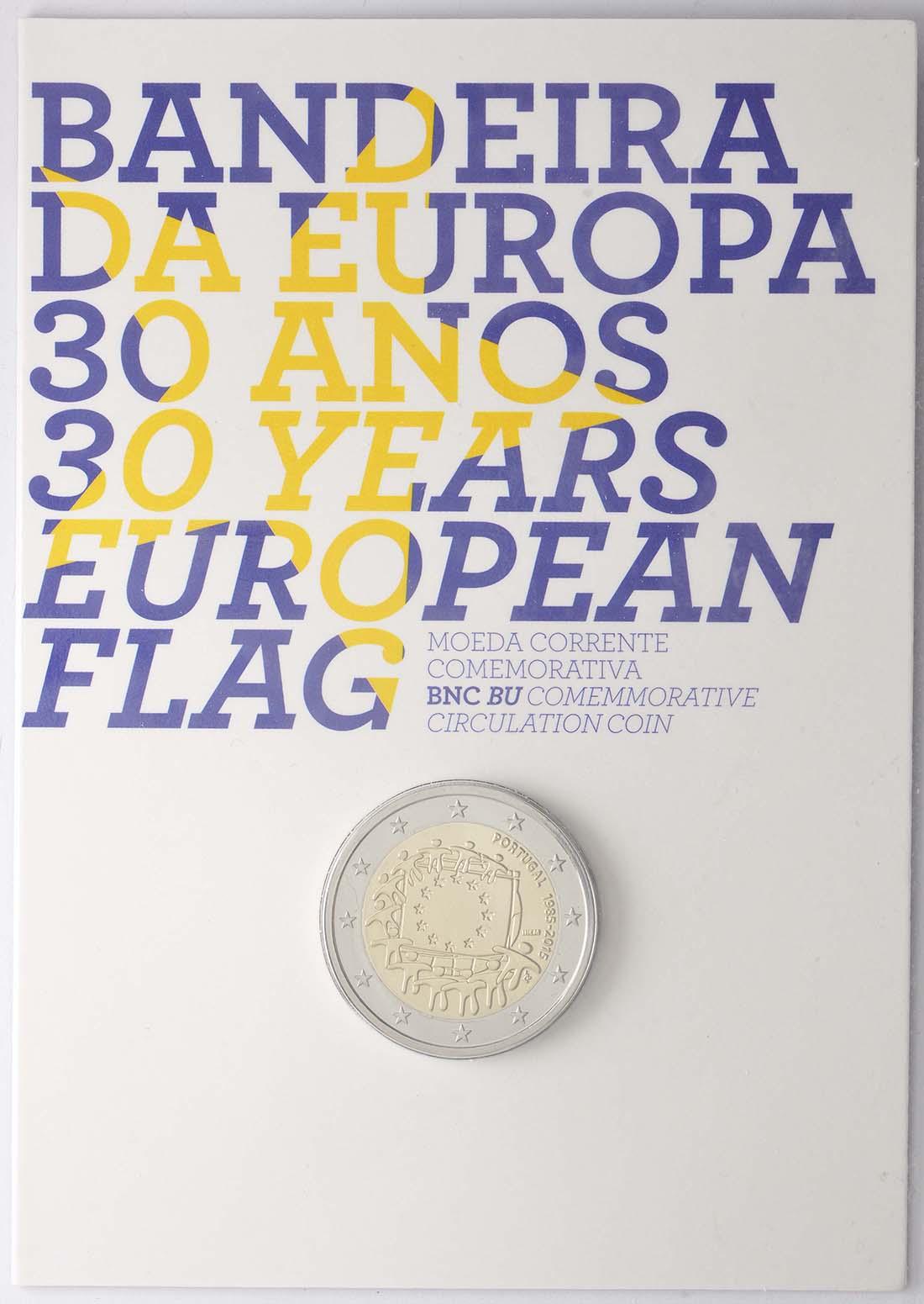 Portugal : 2 Euro 30 Jahre Europäische Flagge  2015 Stgl.