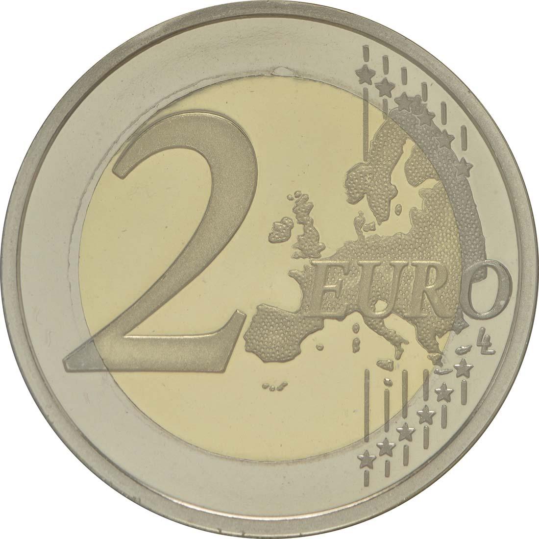 Vorderseite:Portugal : 2 Euro 30 Jahre Europäische Flagge  2015 PP