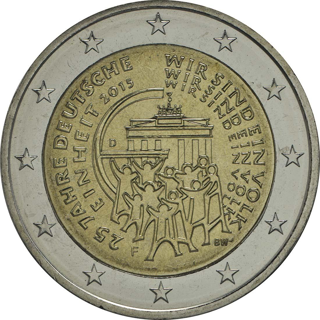 Euro Münze 25 Jahre Deutsche Einheit Wert Ausreise Info