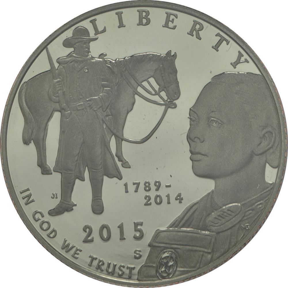 Vorderseite:USA : 1/2 Dollar 225 Jahre United States Marshalls  2015 PP