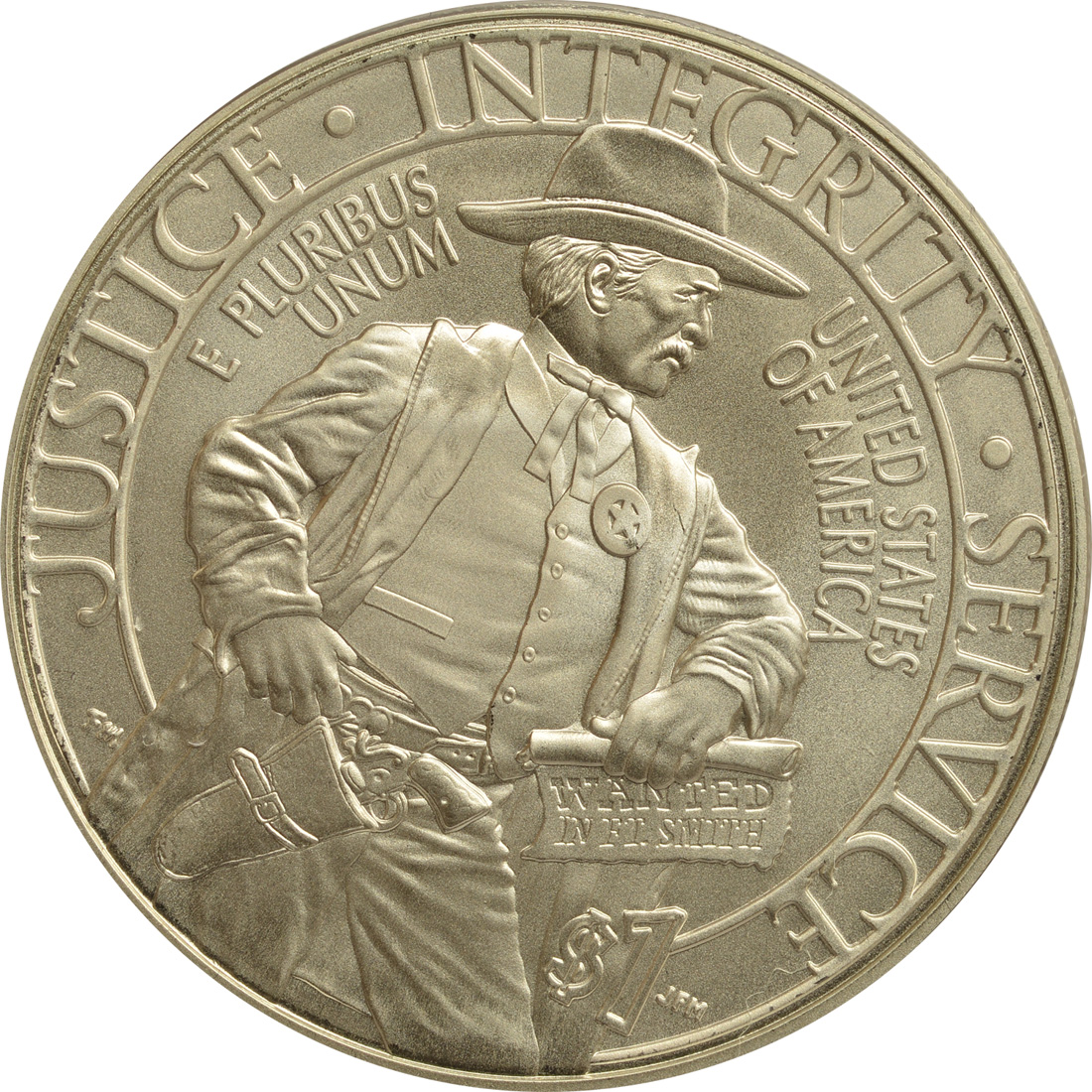 Vorderseite:USA : 1/2 Dollar 225 Jahre United States Marshalls  2015 Stgl.