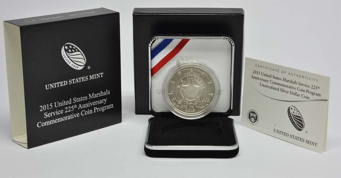 USA : 1 Dollar 225 Jahre United States Marshalls  2015 Stgl.