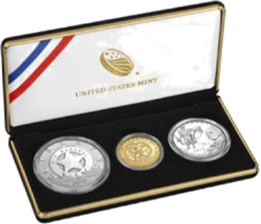 USA : 6,50 Dollar 225 Jahre United States Marshalls Gold / Silber Set   2015 PP