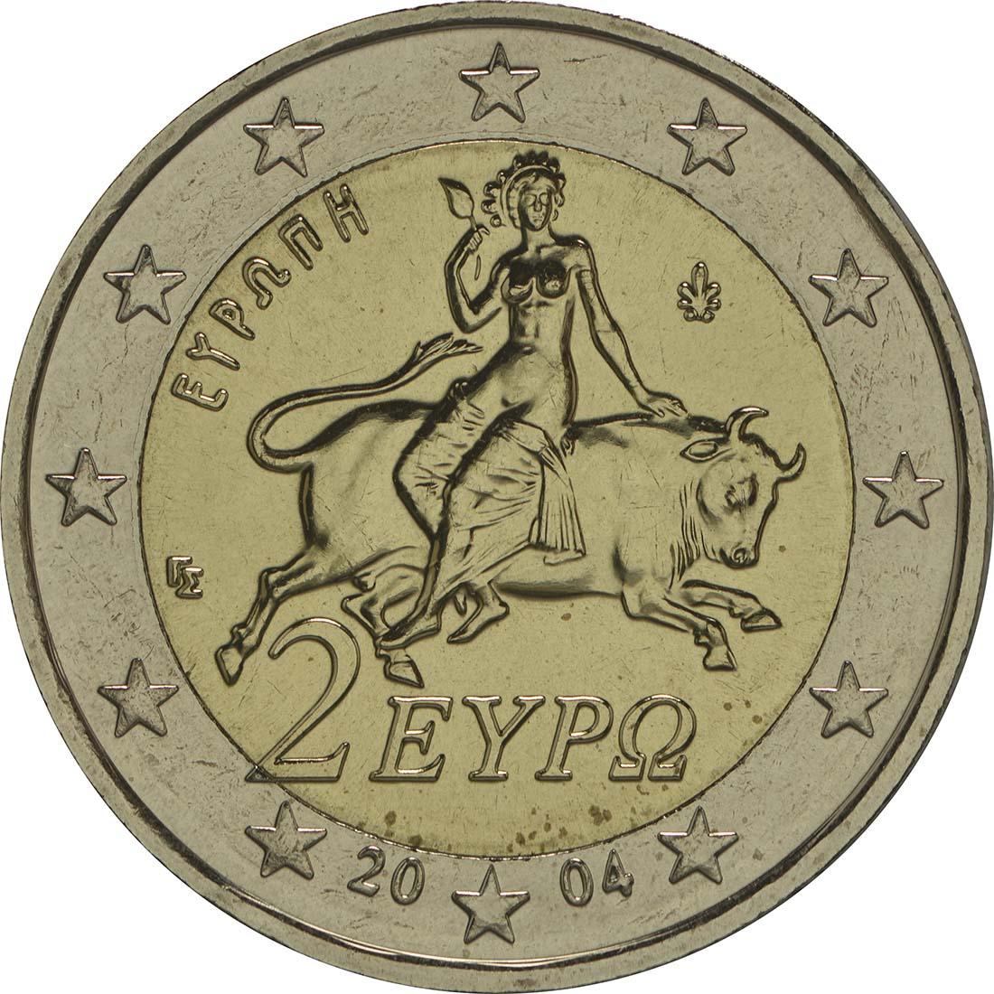 Griechenland 2 Euro Stier 2004 Kuni Vzstgl 59 Euro