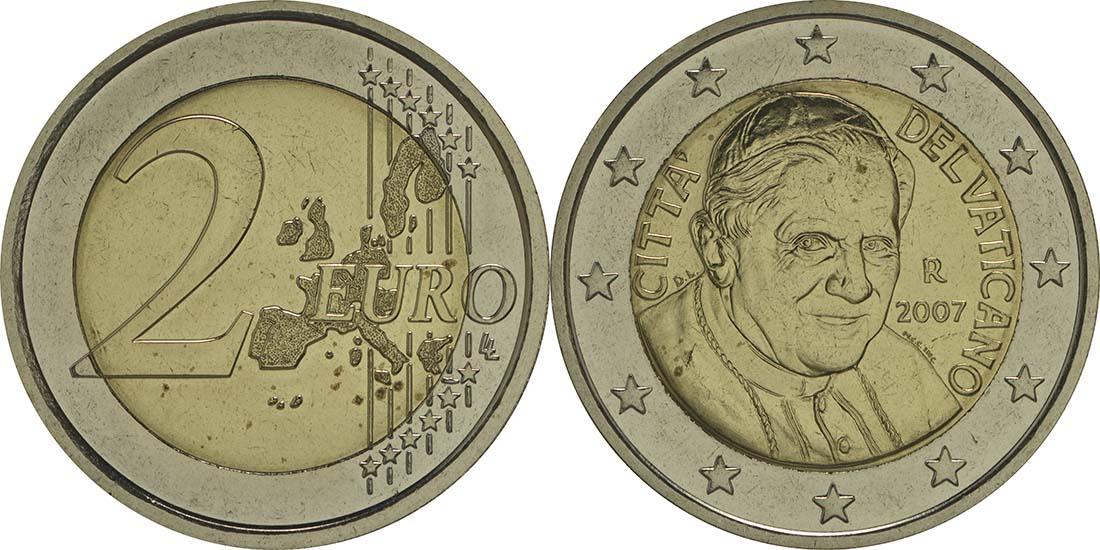 Vatikan : 2 Euro Benedikt  2007 vz/Stgl.