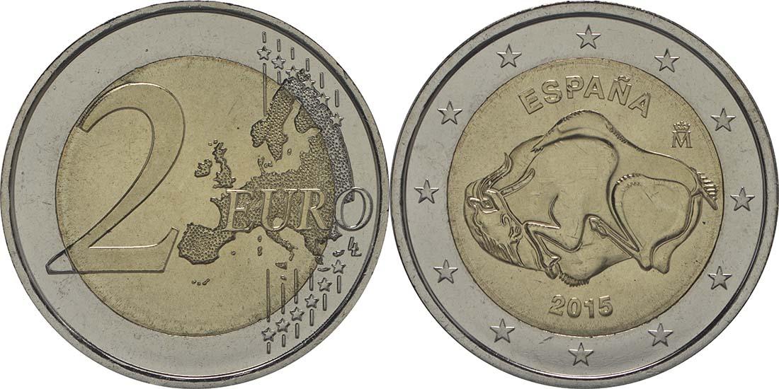 Spanien : 2 Euro Altamira  2015 bfr