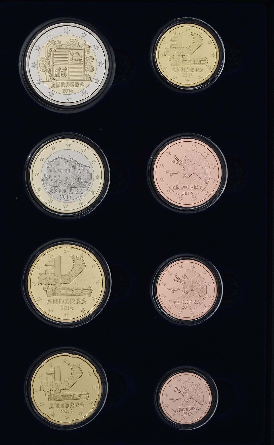 Rückseite:Andorra : 3,88 Euro KMS Andorra  2014 PP