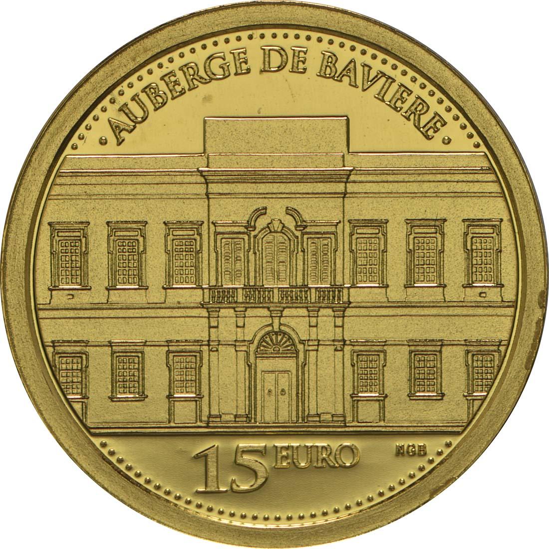 Vorderseite:Malta : 15 Euro Auberge de Baviere  2015 PP