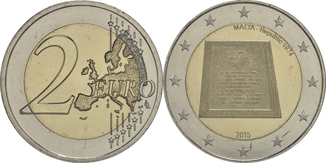 Malta : 2 Euro Republik Malta  2015 bfr