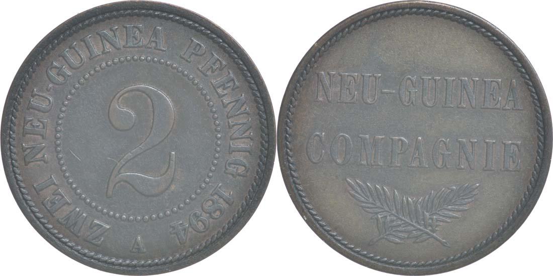 Deutschland : 2 Pfennig   1894 vz/Stgl.