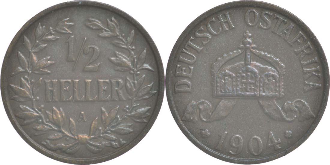 Übersicht:Deutschland : 1/2 Heller   1904 vz.