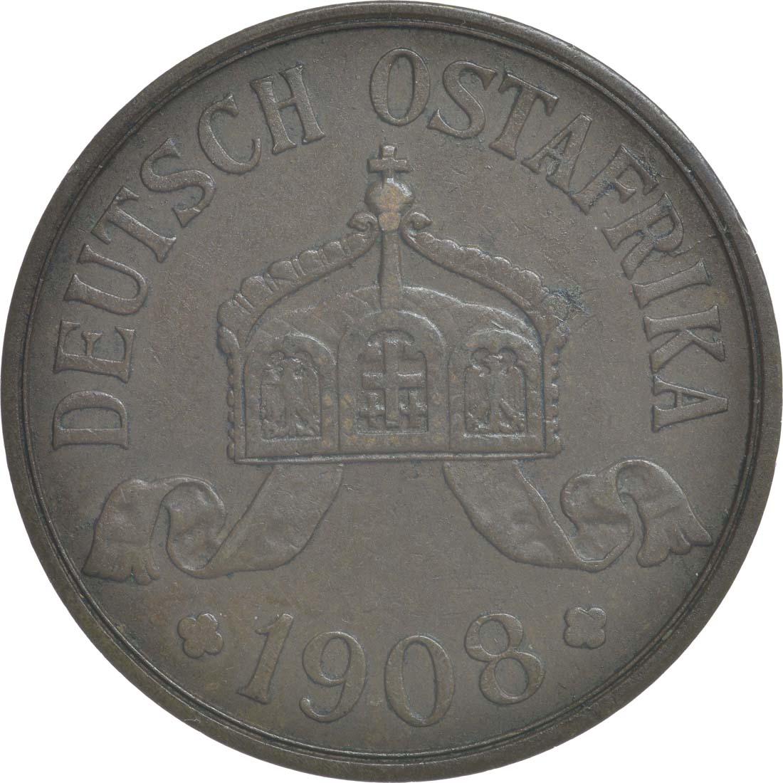 Rückseite:Deutschland : 5 Heller   1908 vz.