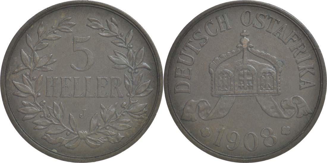 Übersicht:Deutschland : 5 Heller   1908 vz.
