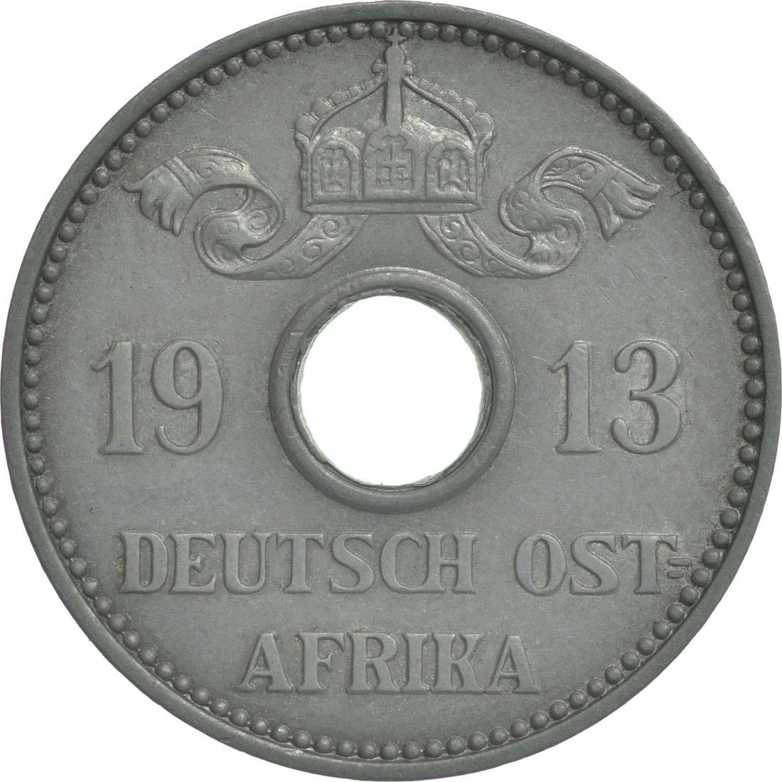 Rückseite:Deutschland : 5 Heller   1913 ss/vz.