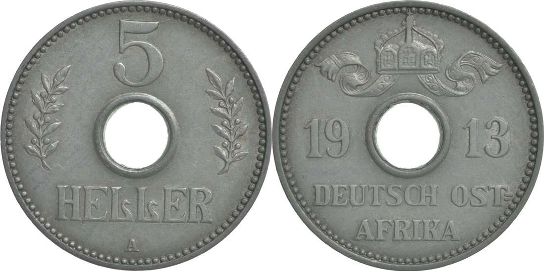 Deutschland : 5 Heller   1913 ss/vz.
