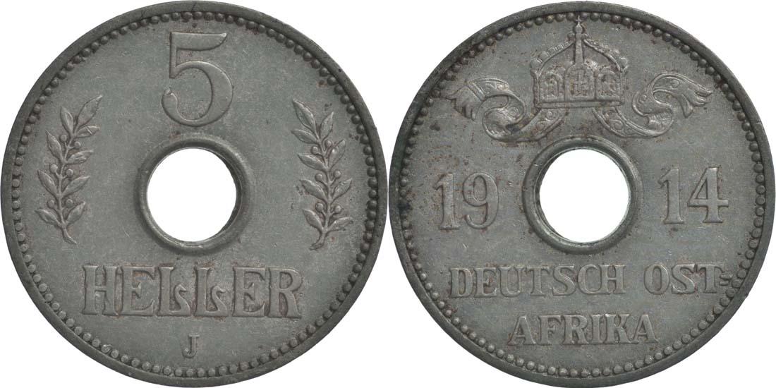Deutschland : 5 Heller   1914 ss.