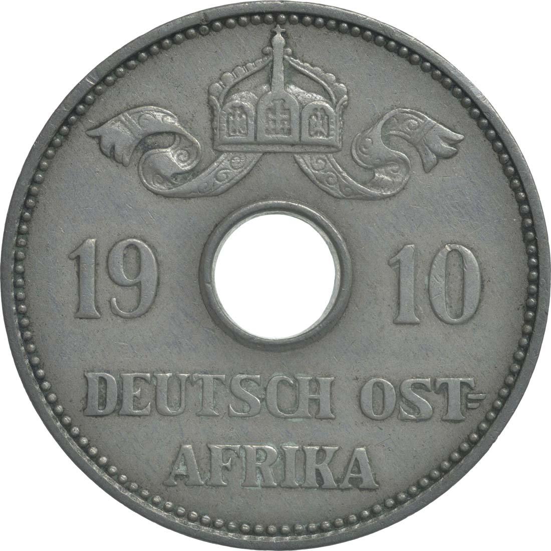Rückseite:Deutschland : 10 Heller   1910 ss/vz.