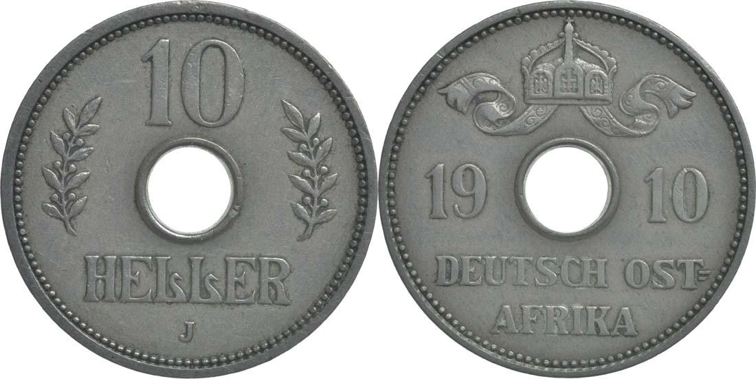 Übersicht:Deutschland : 10 Heller   1910 ss/vz.