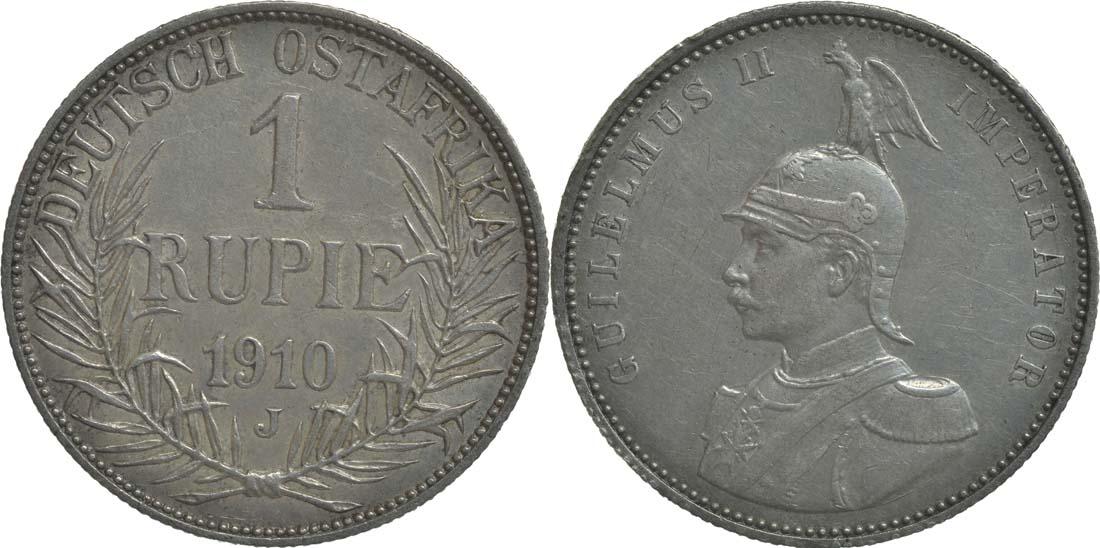Lieferumfang:Deutschland : 1 Rupie Wilhelm II. in Uniform  1910 ss/vz.