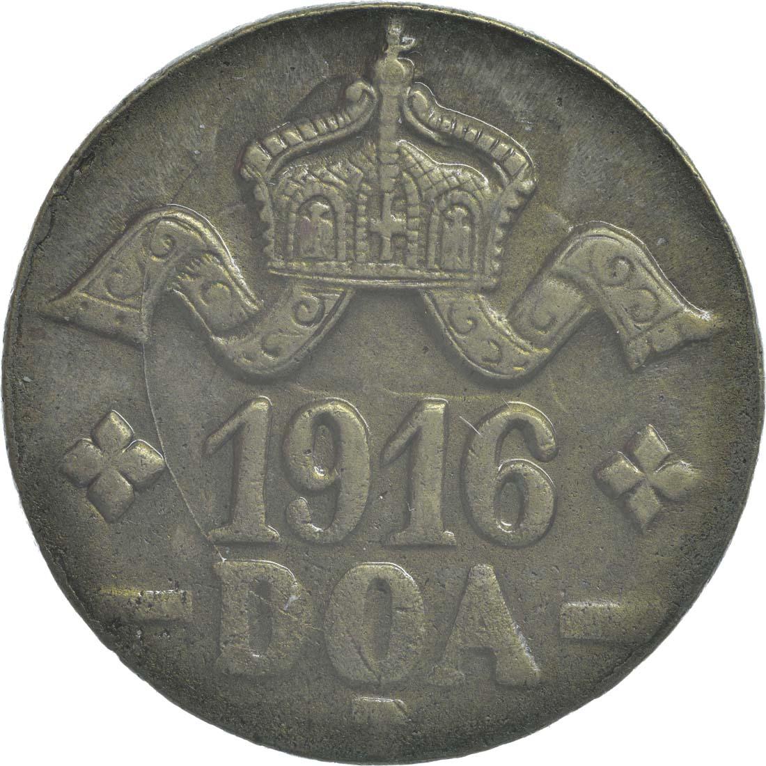 Rückseite :Deutschland : 20 Heller breite Krone, Metall geprüft per Röntgenfluoreszenzanalyse !Erhaltung! 1916 vz.