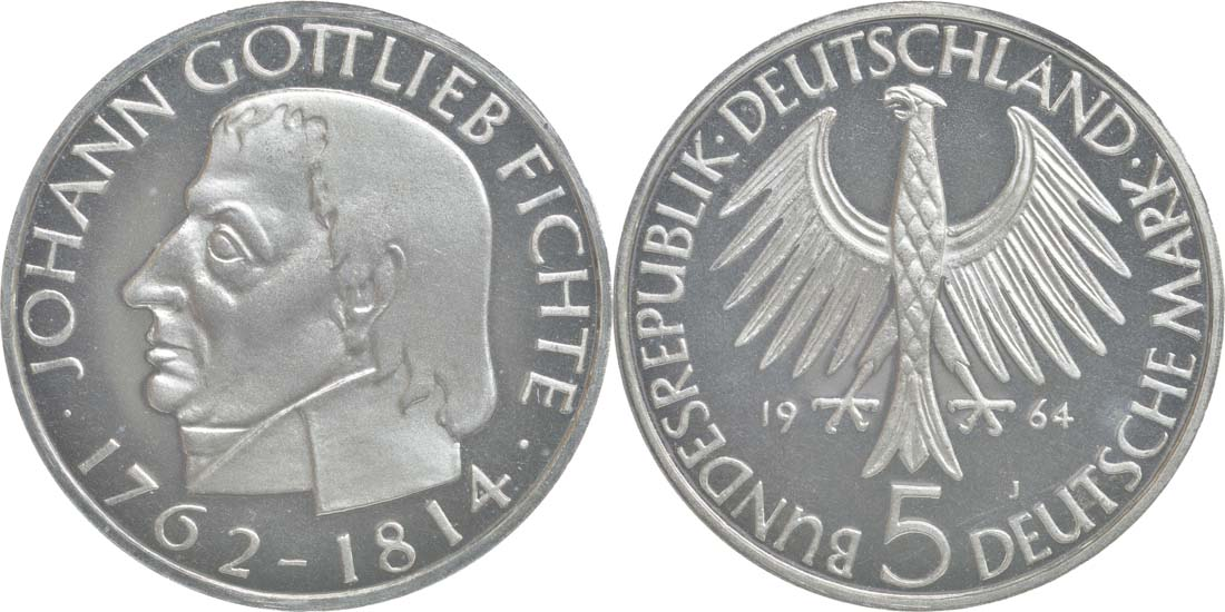 Lieferumfang:Deutschland : 5 DM Fichte  1964 PP