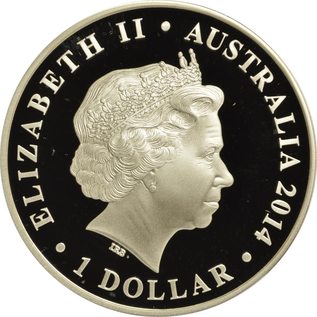 australien 1 dollar australische megafauna thylacoleo farbig 2014 silber pp euro. Black Bedroom Furniture Sets. Home Design Ideas