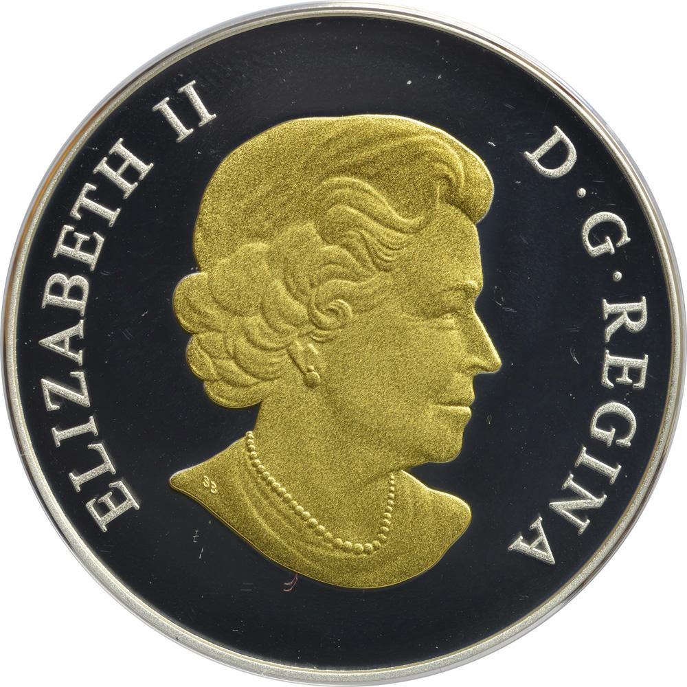 Kanada 20 Dollar Hochzeitsmuenze Teilvergoldet 2015 Silber Pp