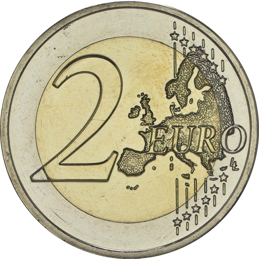 Vorderseite :Luxemburg : 2 Euro 15. Jahrestag der Thronbesteigung von Großherzog Henri  2015 bfr