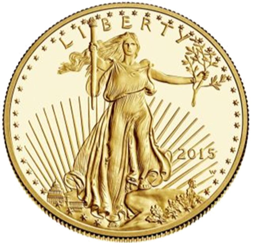 USA : 25 Dollar American Eagle 1/2 oz  2015 PP