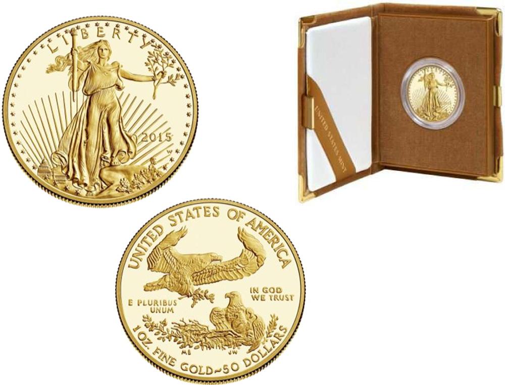 USA : 50 Dollar American Eagle 1 oz  2015 PP