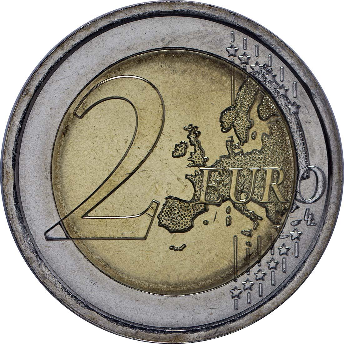 Vorderseite:Italien : 2 Euro Dante Alighieri  2015 bfr