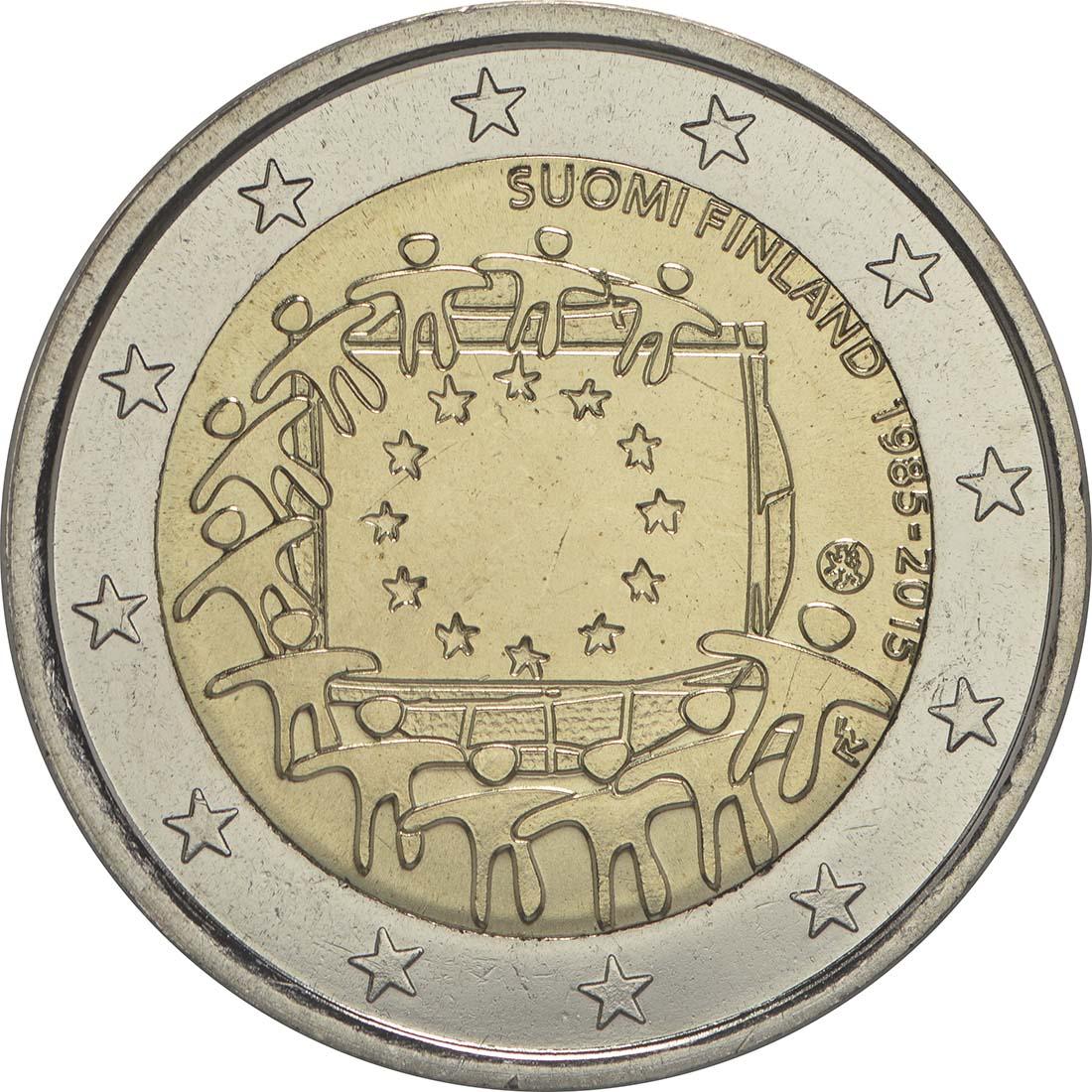 Rückseite:Finnland : 2 Euro 30 Jahre Europäische Flagge  2015 bfr