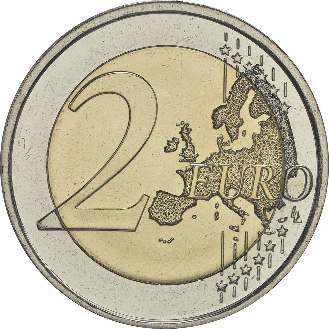 Vorderseite :Finnland : 2 Euro 30 Jahre Europäische Flagge  2015 bfr