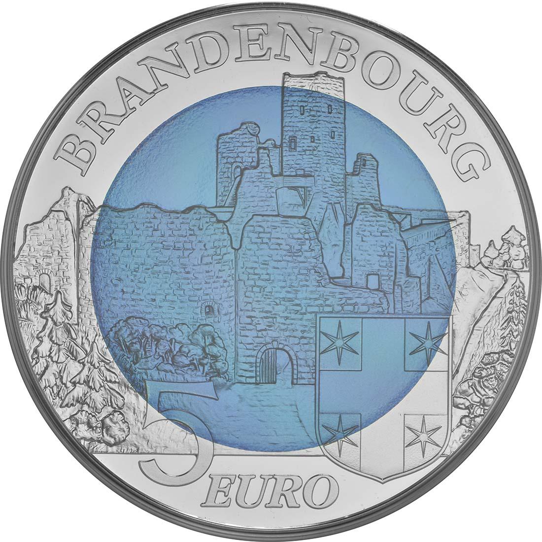 Vorderseite:Luxemburg : 5 Euro Burg Brandenbourg  2015 PP