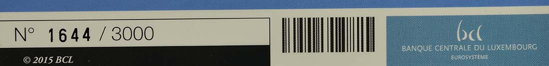 Zertifikat:Luxemburg : 5 Euro Burg Brandenbourg  2015 PP