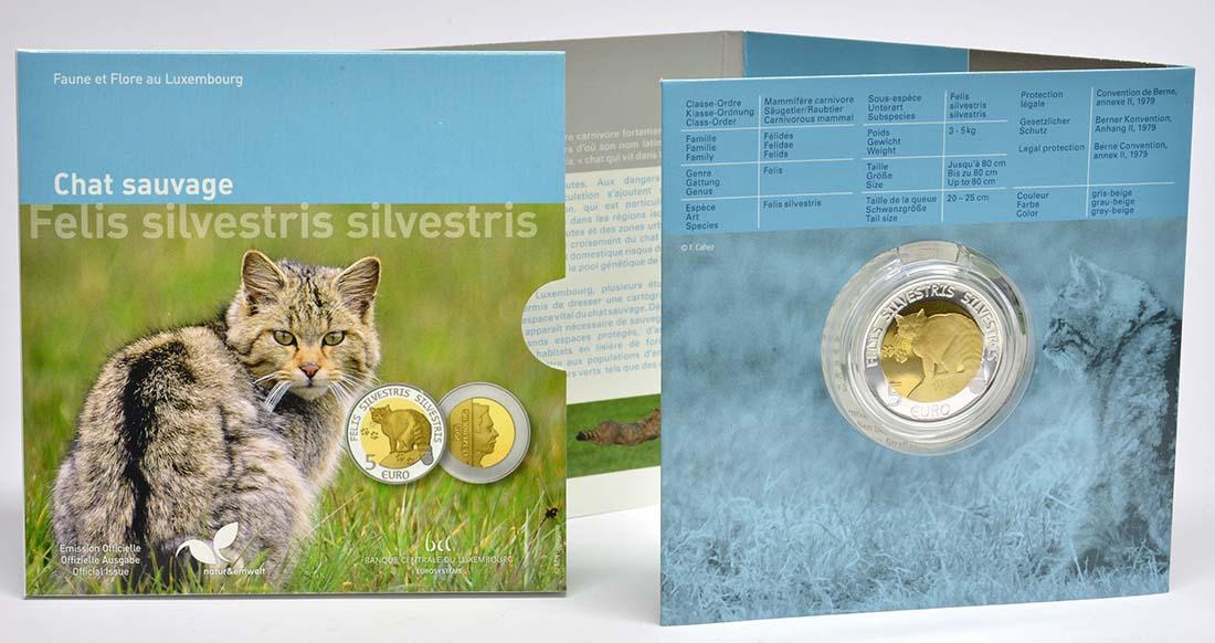 Lieferumfang:Luxemburg : 5 Euro Wildkatze  2015 PP