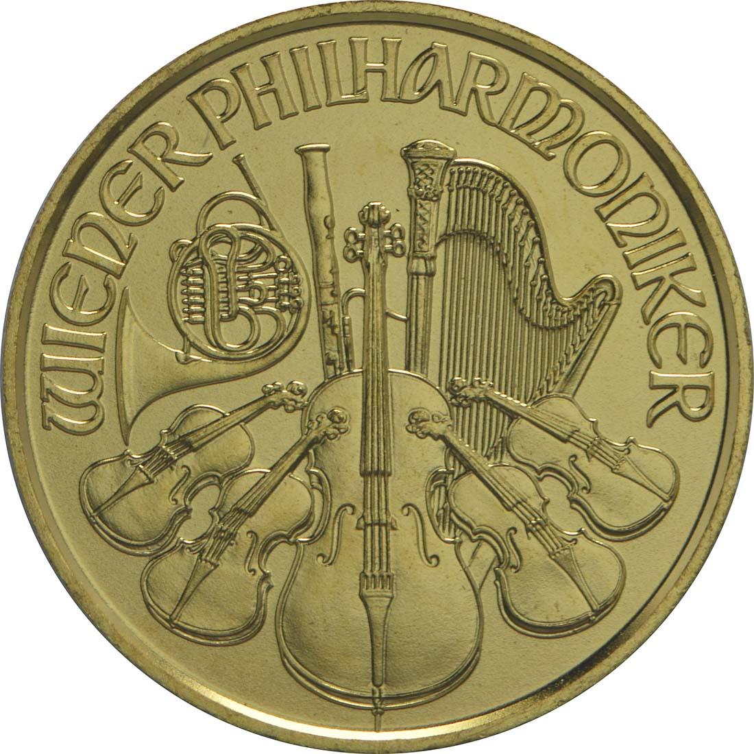 Vorderseite:Österreich : 4 Euro Philharmoniker  2015 Stgl.