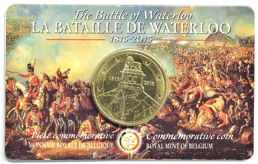 Belgien 25 Euro Schlacht Von Waterloo 2015 Stgl