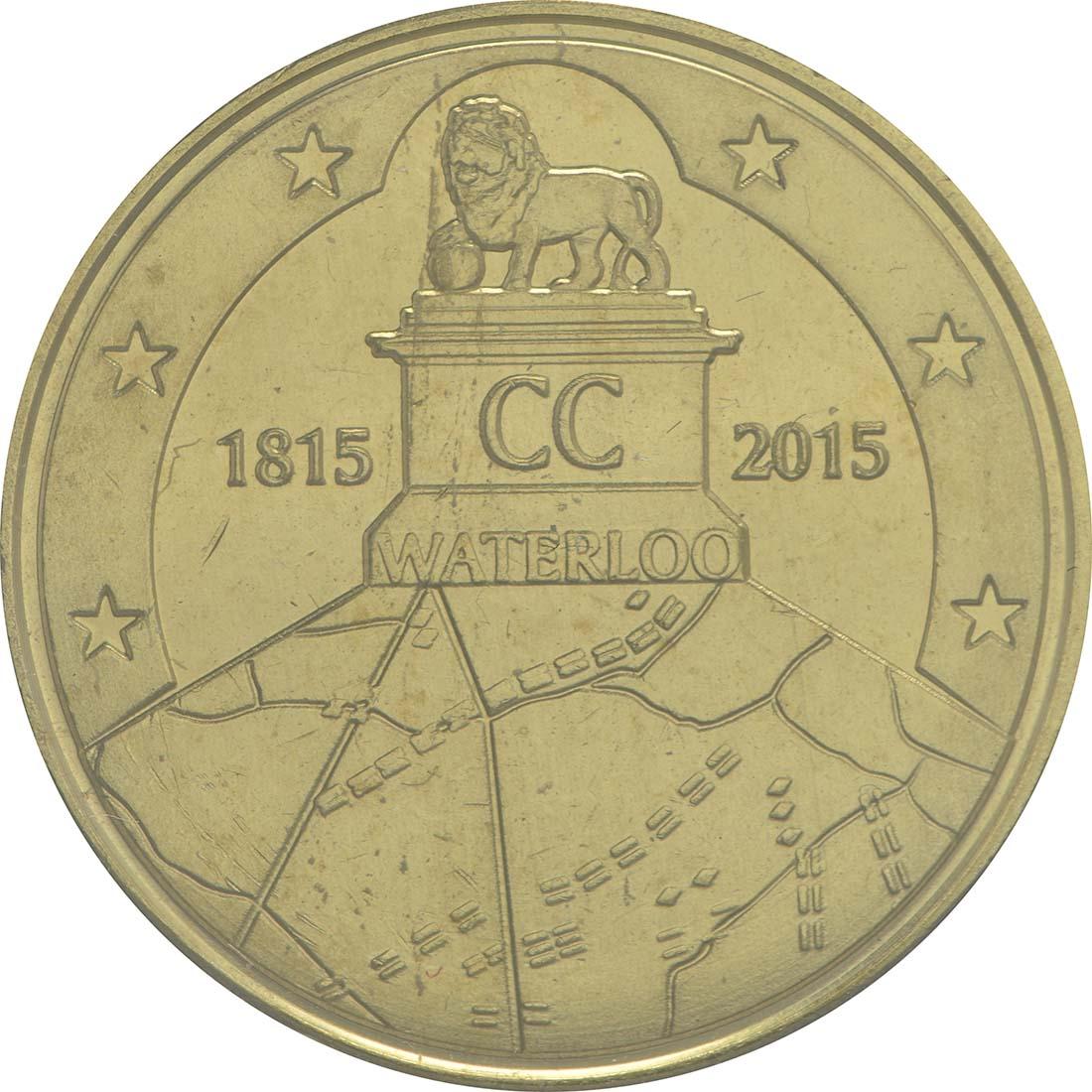 Vorderseite:Belgien : 2,5 Euro Schlacht von Waterloo  2015 Stgl.