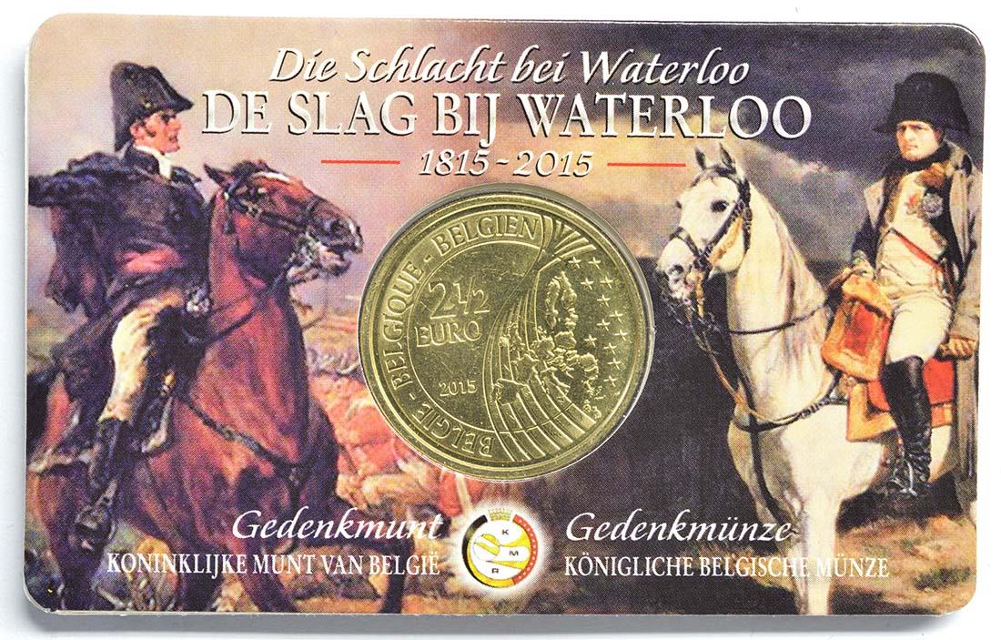 Zertifikat:Belgien : 2,5 Euro Schlacht von Waterloo  2015 Stgl.