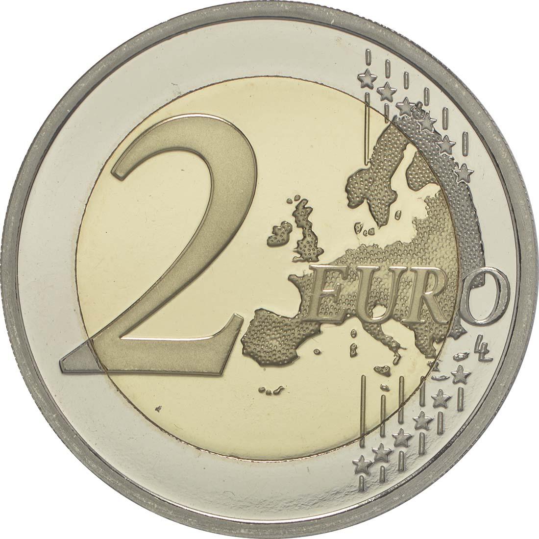 Vorderseite:Belgien : 2 Euro Europäisches Jahr für Entwicklung  2015 PP
