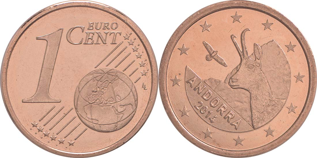 Andorra : 1 Cent Andorra  2014 bfr