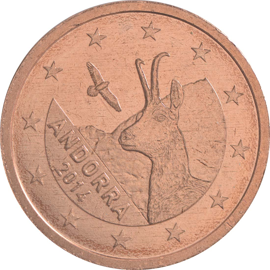 Rückseite:Andorra : 2 Cent Andorra  2014 bfr