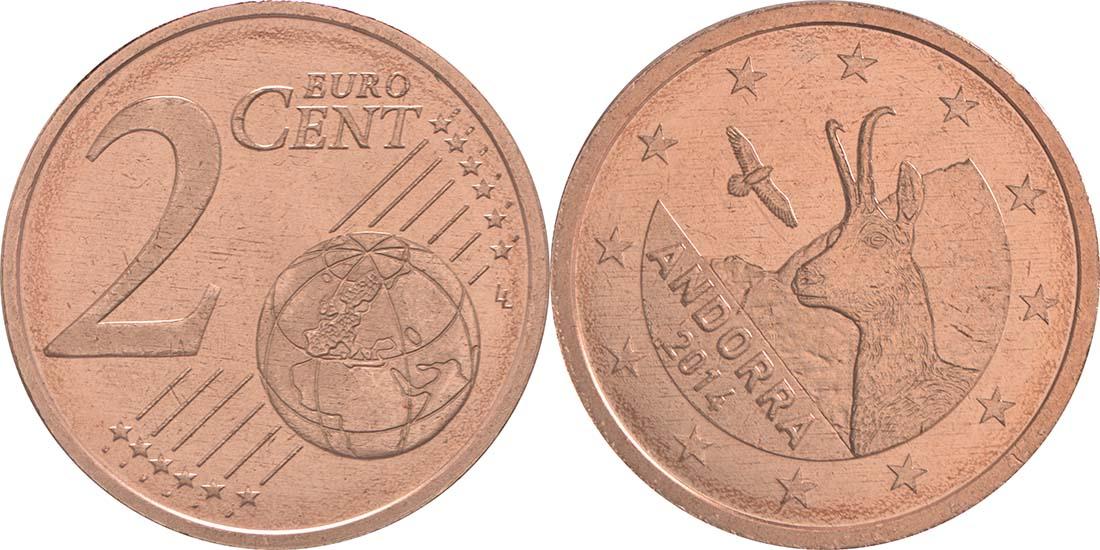 Andorra : 2 Cent Andorra  2014 bfr